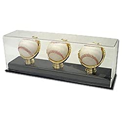 BCW Deluxe Acrylic Triple Gold Glove Baseball Display - Acrylic Base - 1 Display per Pack