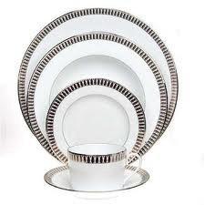 Haviland Plumes Platinum Footed Cake Platter