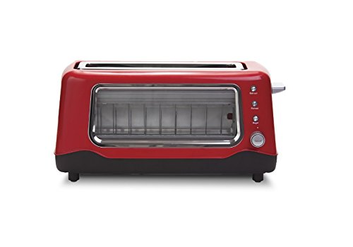 Red Clear View Toaster (Russell Hobbs Toaster 4 Slice compare prices)