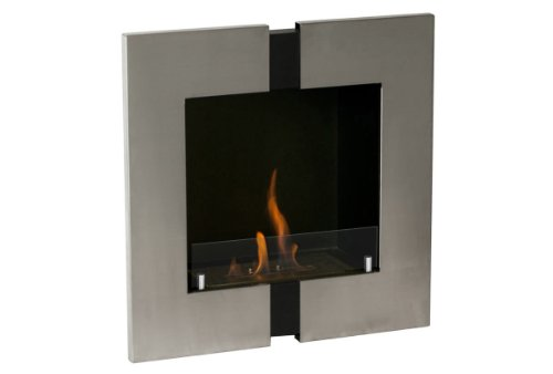 Ignis Ventless Bio Ethanol Fireplace Unum - Recessed, Wall Mounted, With Optional Safety Glass Barrier (With Safety Glass Barrier)