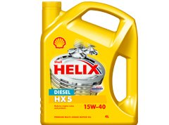 Shell Helix Diesel HX5 15W-40 Multigrade Engine Oil SHE-494 - 5L
