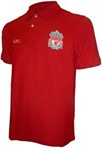 Liverpool Fc Classic Crest Polo Shirt Mens Red Xxl by Liverpool FC