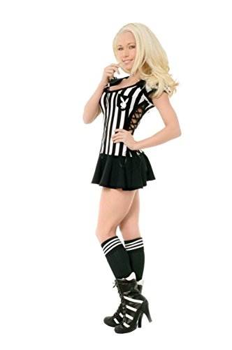 Playboy Womens Racy Referee Sports Outfit Fancy Dress Sexy Costume