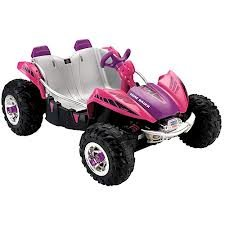 Fisher-Price Power Wheels Pink Dune Racer 12-Volt Battery-Powered Ride-On front-618941