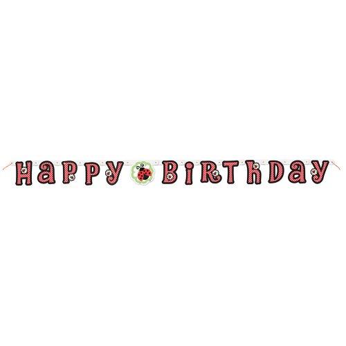 5ft Ladybug Happy Birthday Banner - 1
