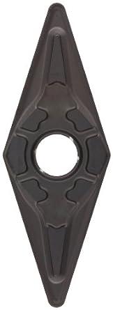 Sandvik Coromant T-MAX P Carbide Turning Insert, VNMG Style, 35 Degree Diamond Shape, KM Chipbreaker, GC3205 Grade, Multi-Layer Coating