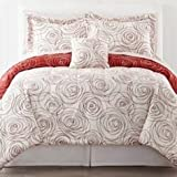 Scribble 7-pc. Complete Bedding Set with Sheets (queen) (red) - Bedroom Collection - Kids & Teens Room - Bed Decor - The flowing circle design makes your bedroom spring to life.