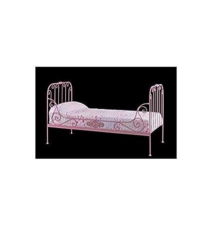 Sofá cama de forja París sencillo - Verde Rakú, Somier con medidas de 90x190 cm.