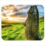 ユニークなデザイン カスタマイズ Easter Island Moai Statues 面白い石像 マウスパッド ,Personalized mouse pad [並行輸入品]