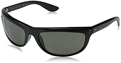 Ray-Ban RB4089 Sunglasses Styles - Black Frame w/ Crystal Green Polarized 62 mm RB4089-601-58-62