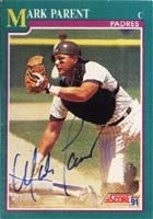 Mark Parent San Diego Padres 1991 Score Autographed Hand Signed Trading Card. by Hall+of+Fame+Memorabilia