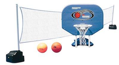 Poolmaster Pro Rebounder Poolside BB/VB Game Combo