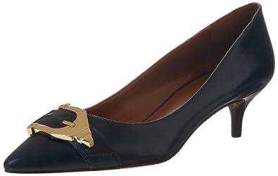 玖熙 Nine West Women's Iri Pump 女士抛光扣真皮低跟鞋 黑色 $40.16