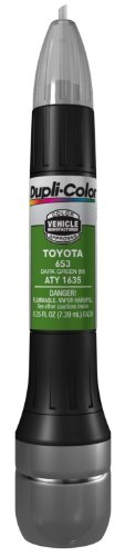Dupli-Color (ATY1635-12PK) Metallic Dark Green Toyota Exact-Match Scratch Fix All-in-1 Touch-Up Paint - 0.5 oz., (Pack of 12)