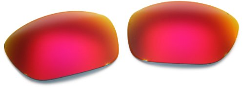 Oakley Oakley Ten 43-371 Iridium Rimless Sunglasses,Multi Frame/Ruby Lens,One Size