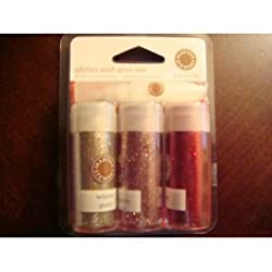 Martha Stewart Valentines 4 Pc Glitter Set