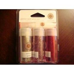 Martha Stewart Valentines 4 Pc Glitter Set