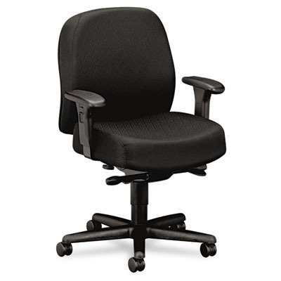 Hon Mid-Back Task Chair, 32-1/4 by 29-1/2 by 43-1/2-Inch, Black