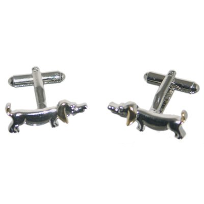 Mens Funky Stylish Fashion Novelty Animal Theme Sausage Dog Cufflinks With Gift Box - A Great Christmas, Birthday, Valentine, Anniversary, Wedding Gift For Husbands, Fathers, Boyfriends, Friends And Work Colleagues