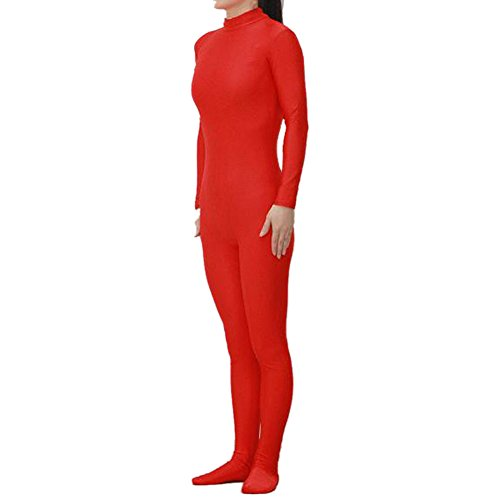 Muka Adult Lycra Zentai Unitard Bodysuit Halloween Catsuit Dancewear RED-XXL (Red Morph Suits)