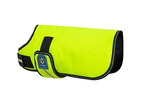 Knuffelwuff 13873-007 Hundemantel Funktionstextil reflektierend Neon, 40 cm -