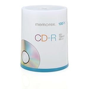 Memorex 700MB/80-Minute 52x CD-R Media 100-Pack Spindle