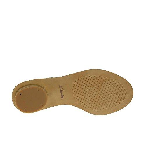 купить Clarks Women's Sandals Sandcastle Art Cotton Leather дешево