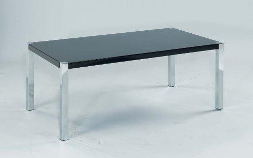 Novello tavolino in nero lucido e cromo