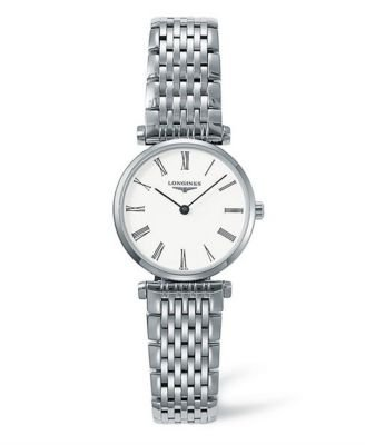 Longines Women's LNG42094116 La Grande Analog Display Quartz Silver Watch