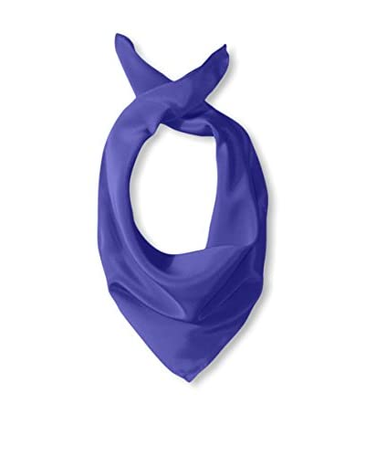 Versace Women's Plain Silk Scarf, Royal Blue