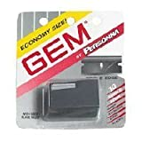 Gem Personna Single Edge Super Stainless Steel Blades with Used Blade Vault - 10 Pack