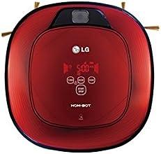 LG HomBot Square VR64702LVMB - Robot aspirador, 2 cámaras, sistema Robo Navi 9.0, silencioso 60db, color rojo