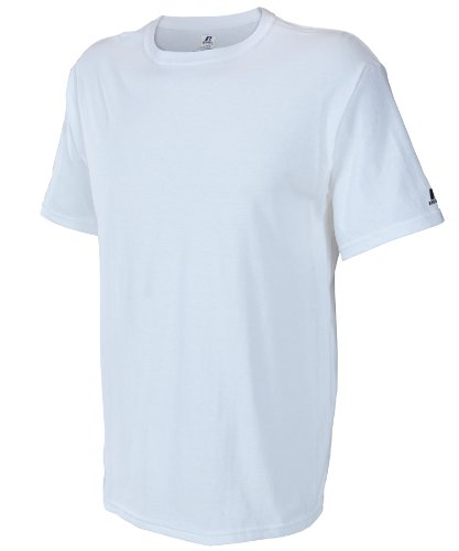 Russell Athletic Men's Basic T-Shirt, White, XXX-Large