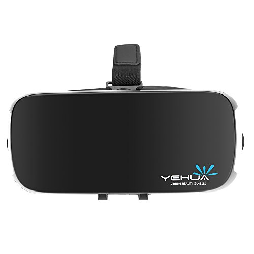 Docooler YEHUA Virtual Reality Glasses 3D VR Box Headset 3D Movie Game Glasses Head-Mounted Black-white for 4.7 to 5.5 Inches Android iOS Smart Phones