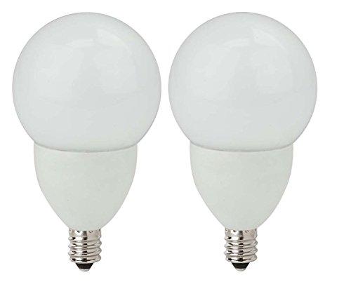 Tcp Rldcg164W27Kf2 Led Frosted Globe - 25 Watt Equivalent (4W) Soft White (2700K) Candelabra Base Dimmable Decorative Light Bulb 2-Pack