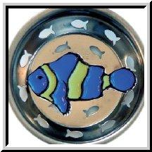 Enamel Kitchen Strainer Tropical Blue Fish