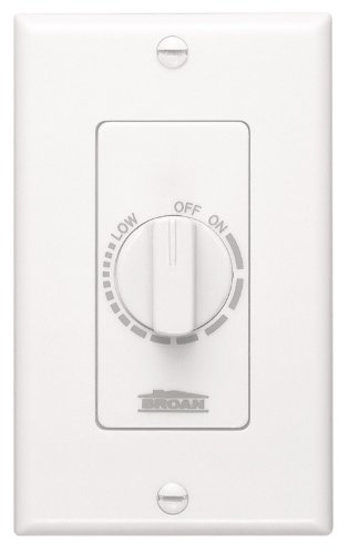 NuTone 57W Variable Speed Wall Control for Ventilation Fans, White (Variable Speed Fan Dial compare prices)