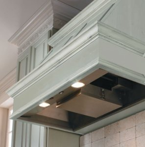 Decorative Hood Wall Mount Liner Duct: 3.25