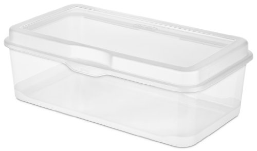 Sterilite 18058606 Large Flip Top, Clear, 6-Pack (Toy Storage Containers compare prices)