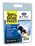 Compatible Jettec T0481 Black Ink Cartridge for Epson Printers