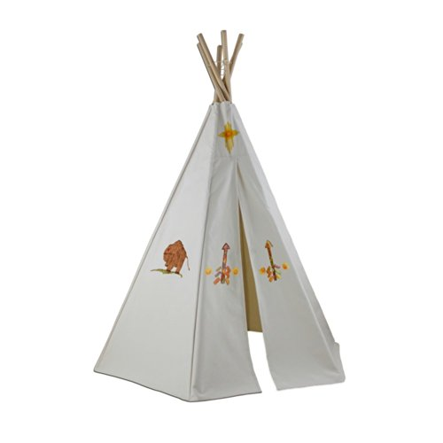 Dexton 6Ft Create-My-Own Great Plains Teepee With Washable Markers (Natural)