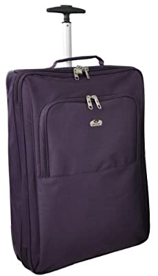 "Aerolite Cabin Approved 21"" Inch Hand Luggage Bag (Plum)"