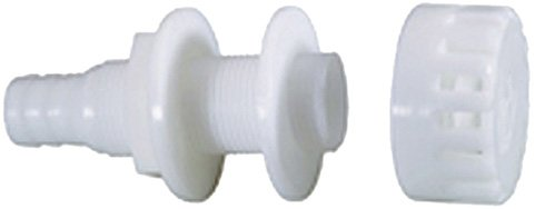 Attwood Corporation 3886-3 White Thru-Hull Connector with Strainer