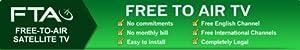 Globecast FTA Free To Air Satellite Complete System Set - Receiver, Dish, LNBF