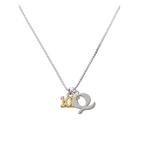Gold Tone 10K Capital Initial Q Necklace