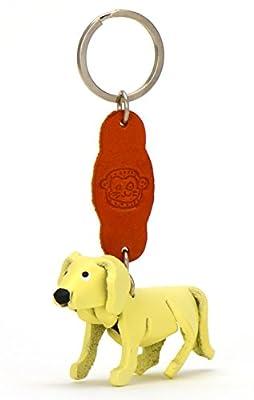 Golden Retriever Gina - kleine Hunde Schlüssel-Anhänger aus Leder, eine tolle Geschenk-Idee für Frauen und Männer in Hunde-Zubehör unter Halsband