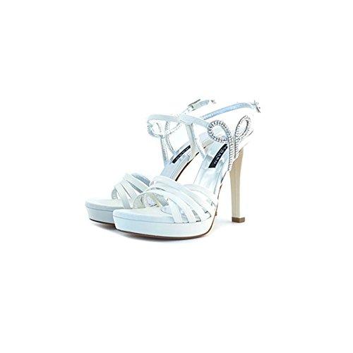 Decolte', sandali gioiello da sposa Albano, in raso bianco, taglia: 35