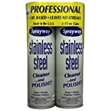 Sprayway Stainless Steel Cleaner - 2/15oz can