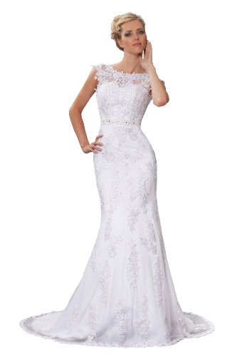 Sexyher Stylish Vintage Mermaid Applique Wedding Dress with Bow Sash - WD1155 rania hussein the adoption of web based marketing in the travel and tourism industry