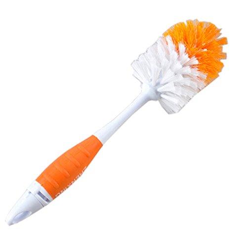 Baby-Flasche-Reinigung-Brsten-Spin-Schwamm-Ftterung-Milch-Nippel-Pinselreiniger-Werkzeug-orange
